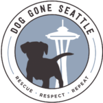 We partner with Dog Gone Seattle to rescue dogs!